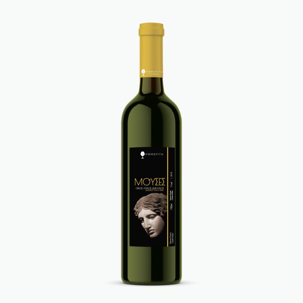Λευκός Ημίγλυκος Μούσες - Κτήμα Ξηρομερίτη - Κρασιά
